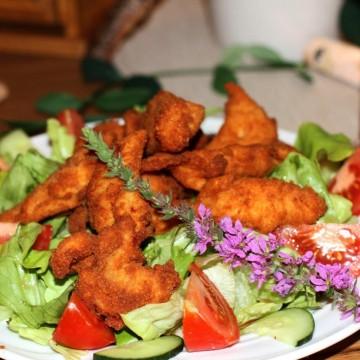 Hühnerfilet gebacken